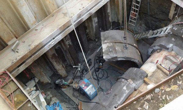 Cut in to Eastern Interceptor Sewer