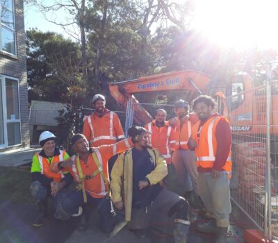 The Lawsons Creek Branch Sewer Duplication Crew