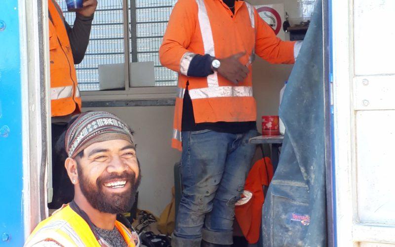 Smoko for the Pipeline & Civil crew