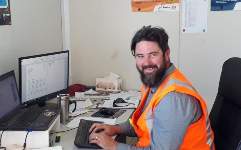 Project Manager at home in his Site Office