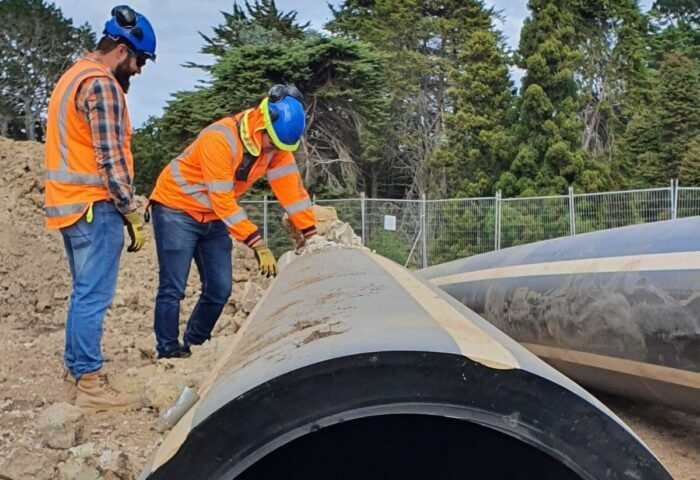 HDPE Pipe QA inspection