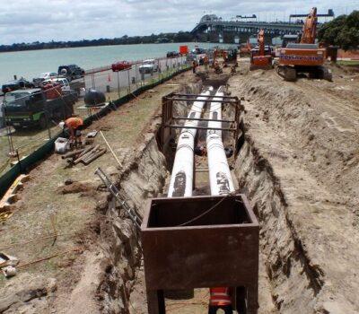 Twin CLS Watermains Auckland Harbour Bridge