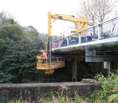 Orewa new pipe on bridge