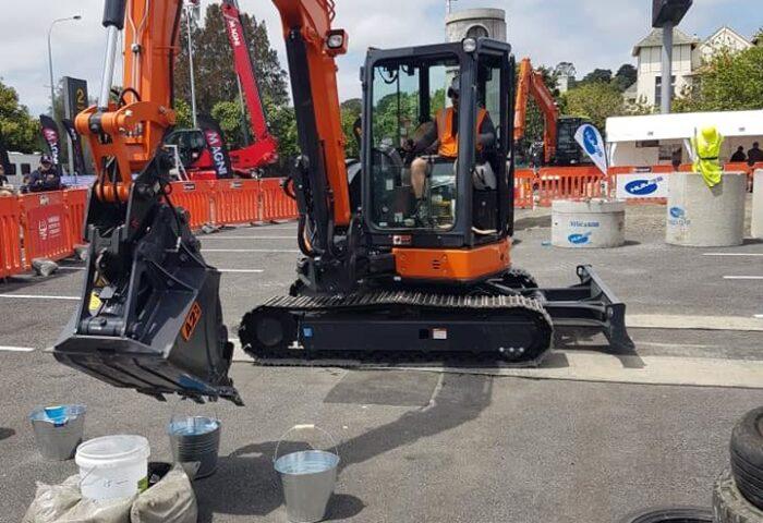 Tevita at Regional Excavator Competition